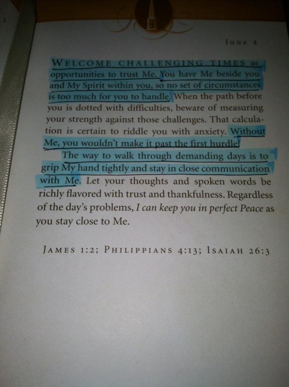 Jesus Calling June 4