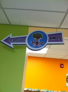Sign above our Elementary Ministry entrance