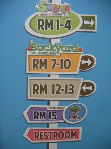 One of our directional signs