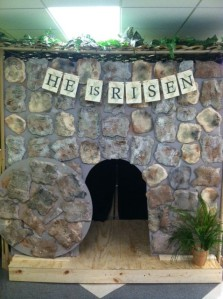 Our Empty Tomb, which served as our Photo Booth