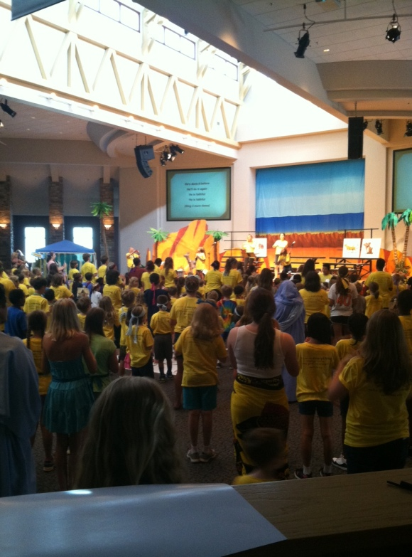 There's something amazing about worshiping with hundreds of children and volunteers - it's a great start to the day!