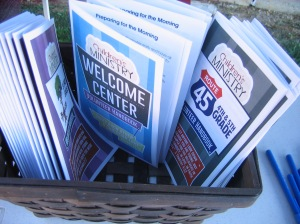 Our elementary, preteen and welcome center handbooks