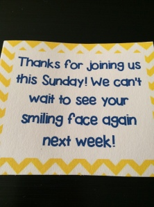 Children's gift bag tag