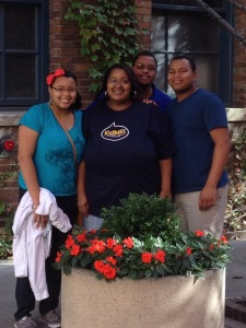 I was blessed to have my daughter, husband, son, and mom (who's not pictured) join me for this trip.