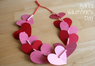 Valentine Crafts - Heart Necklace